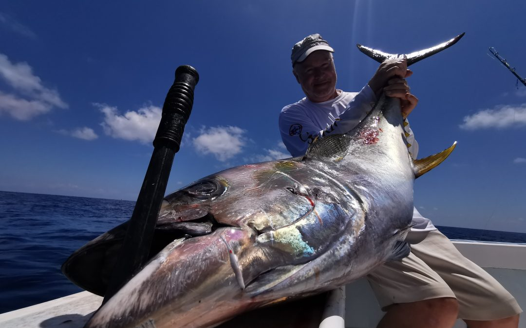 March 10, 2020 – 4 sailfish and 6 yellowfin tuna fishing Costa Rica