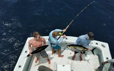 May 24, 2020 – Sailfish and yellowfin tuna Quepos Costa Rica